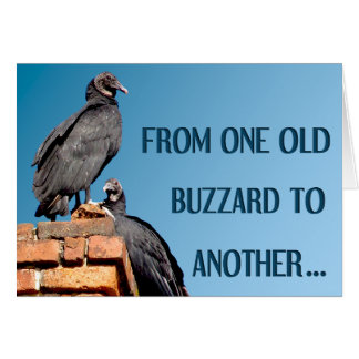 One Old Buzzard To Another Birthday Greeting Card