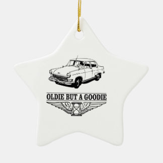 one oldie but a goodie ceramic star ornament