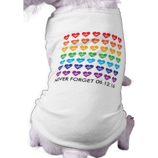One Orlando One Pulse 49 Hearts Rainbow Pet Shirt