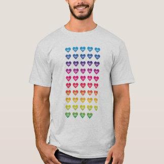 One Orlando One Pulse Rainbow 49 Hearts T-Shirt