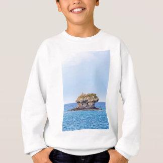 One outstanding rock rising from sea level sweatshirt