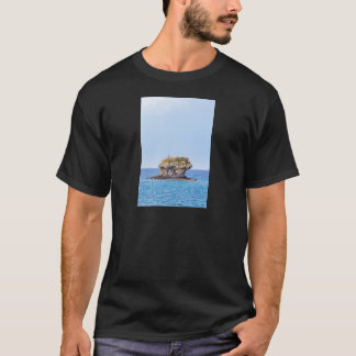 One outstanding rock rising from sea level T-Shirt