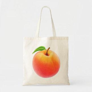One peach tote bag