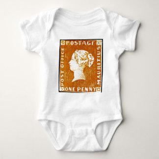 One Penny British Empire Mauritius Postage Stamp Baby Bodysuit