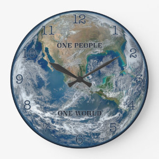 One People - One World Earth Clock (Round)