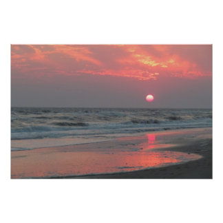 One Perfect Sunset - Oak Island, NC Poster