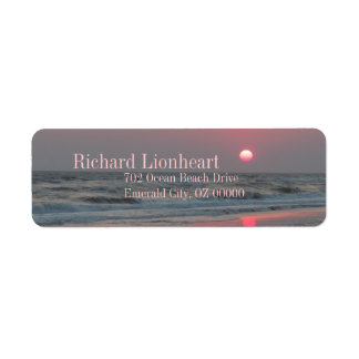 One Perfect Sunset - Oak Island, NC Return Address Label