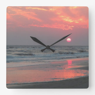 One Perfect Sunset Square Wall Clock