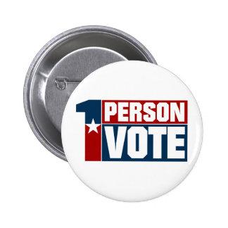 One Person One Vote Button