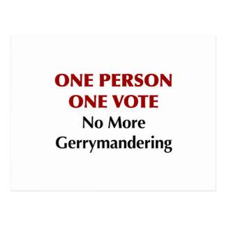 One Person One Vote, No More Gerrymandering Postcard