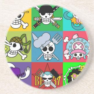 One Piece Flag Straw Hats Coaster