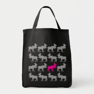 One Pink Moose in the Herd Tote Bag