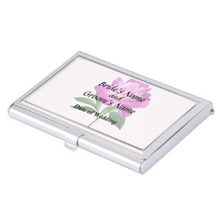 One Pink Peony Wedding Products Case For Business Cards