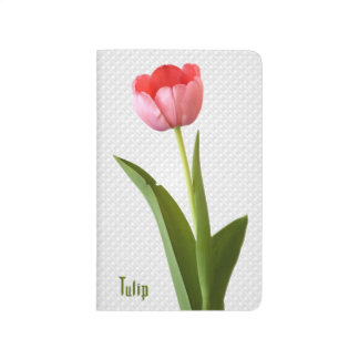 One Pink Spring Tulip Nature Floral Photo Journal