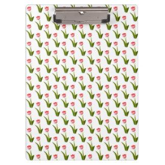 One Pink Tulip - Wallpaper Pattern Clipboard