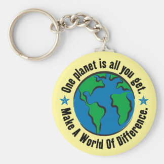 One Planet Is All You Get Basic Round Button Keychain