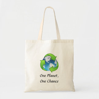 One Planet, One Chance Budget Tote Bag