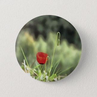 One Poppy 2 Inch Round Button