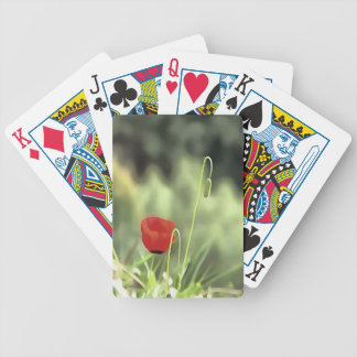 One Poppy Bicycle Playing Cards