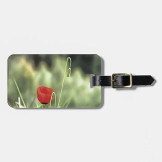 One Poppy Luggage Tag