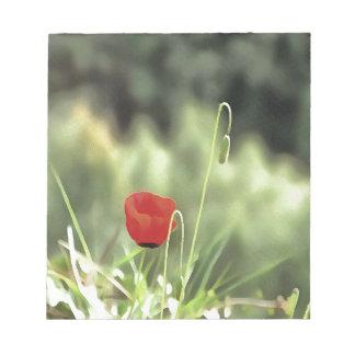 One Poppy Notepad