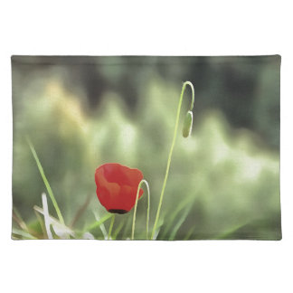 One Poppy Placemat