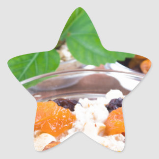 One portion of oatmeal with fruit and berries star sticker