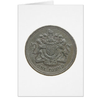 One pound coin card