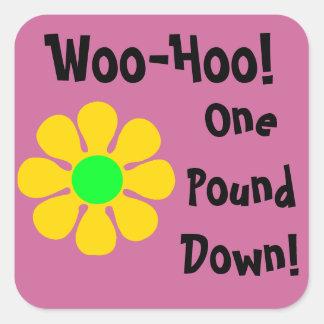 One Pound Down Daisy Diet Motivation Stickers