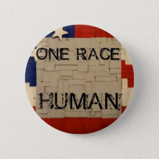 One Race Human 2 Inch Round Button