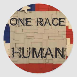 One Race Human Classic Round Sticker