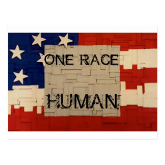 One Race Human Postcard
