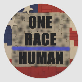 ONE RACE-Human   sticker
