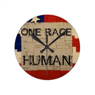 One Race Human Wall Clock