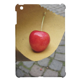 One red cherry on straw food paper iPad mini cover