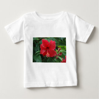 One red hibiscus baby T-Shirt