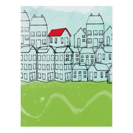 One Red Roof Postcard