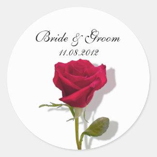 One Red Rose Classic Round Sticker