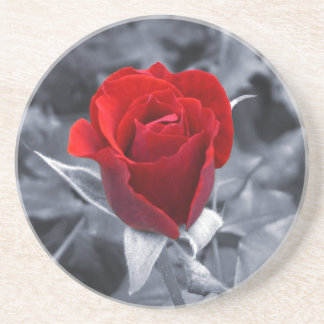 One Red Rose Coaster