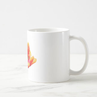 One red tulip flower on white background coffee mug