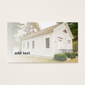 one-room schoolhouse in Connecticut Business Card