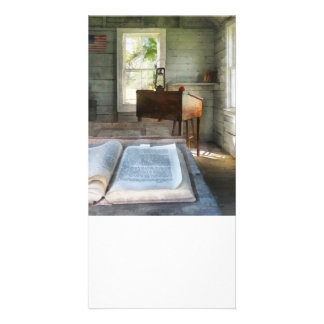 One Room Schoolhouse with Book Photo Greeting Card