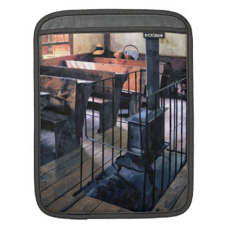 One Room Schoolhouse With Stove iPad Sleeves