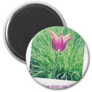 one second can change your life forever 2 inch round magnet