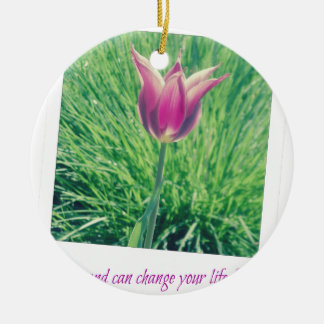one second can change your life forever ceramic ornament