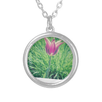 one second can change your life forever silver plated necklace