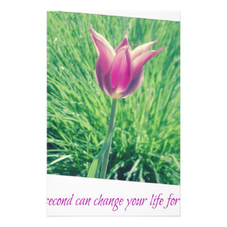 one second can change your life forever stationery