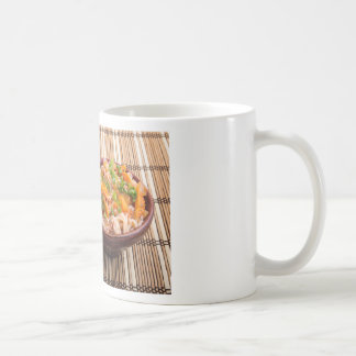 One serving of rice vermicelli hu-teu coffee mug