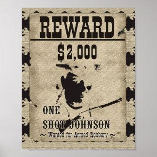 One Shot Johnson Reward Print