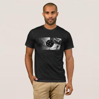 One Shot Mens T-Shirt - Collage B/W on Black